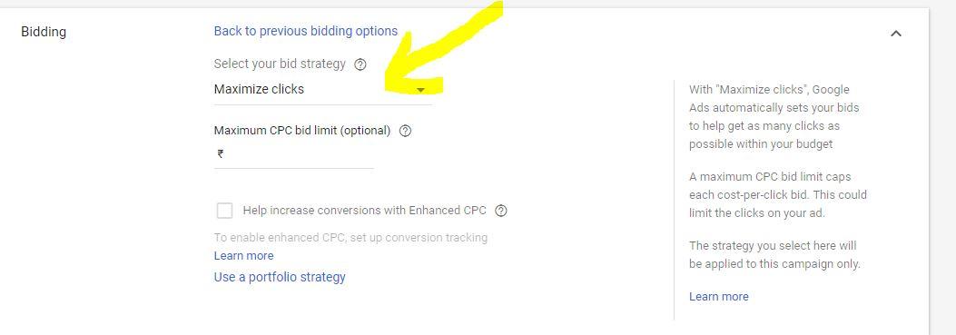 google ads bid and budget